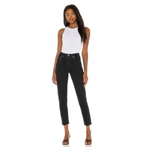 Agolde Washed Black Jamie High-Rise Jeans 29